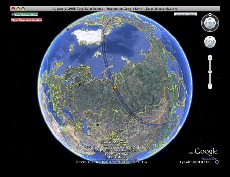 Google Earth Interactive Window
