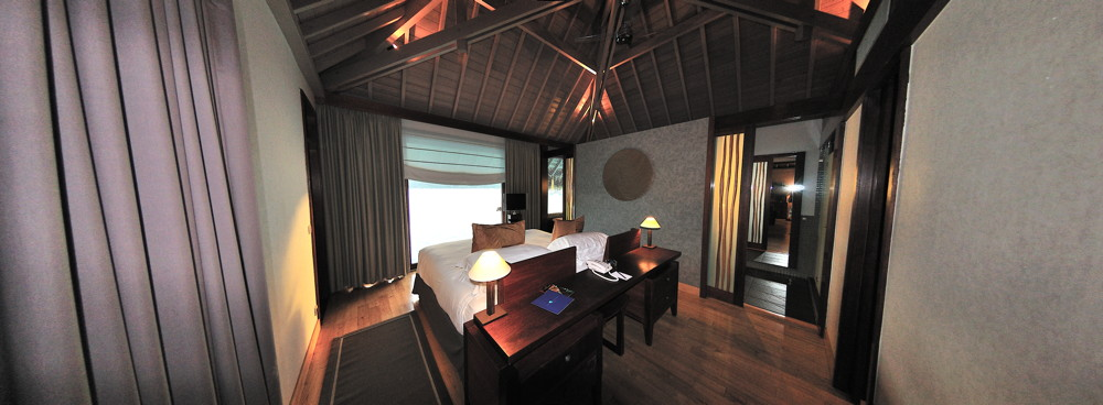 Chambre Coucher Villa Lagon 223 Intercontinental Bora Bora Thalasso Spa