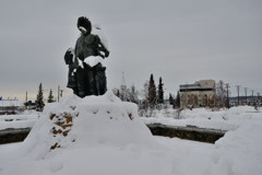 Statue Famille Eskimo Centre Fairbanks