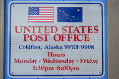 Identification Bureau Postal Coldfoot
