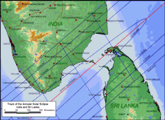 Detailed Map India Annular Eclipse 2010
