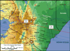 Detailed Map Kenya Annular Eclipse 2010
