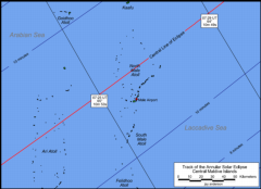 Detailed Map Maldives Annular Eclipse 2010