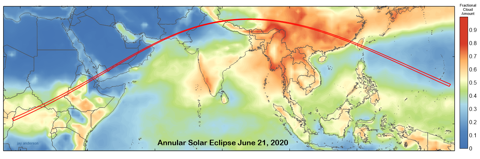 Annular Solar Eclipse 2020 June Cloud Cover