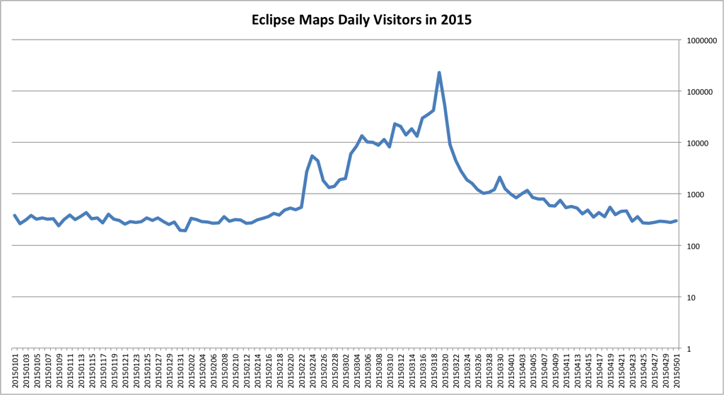 2015 Visitor Eclipse Google Maps