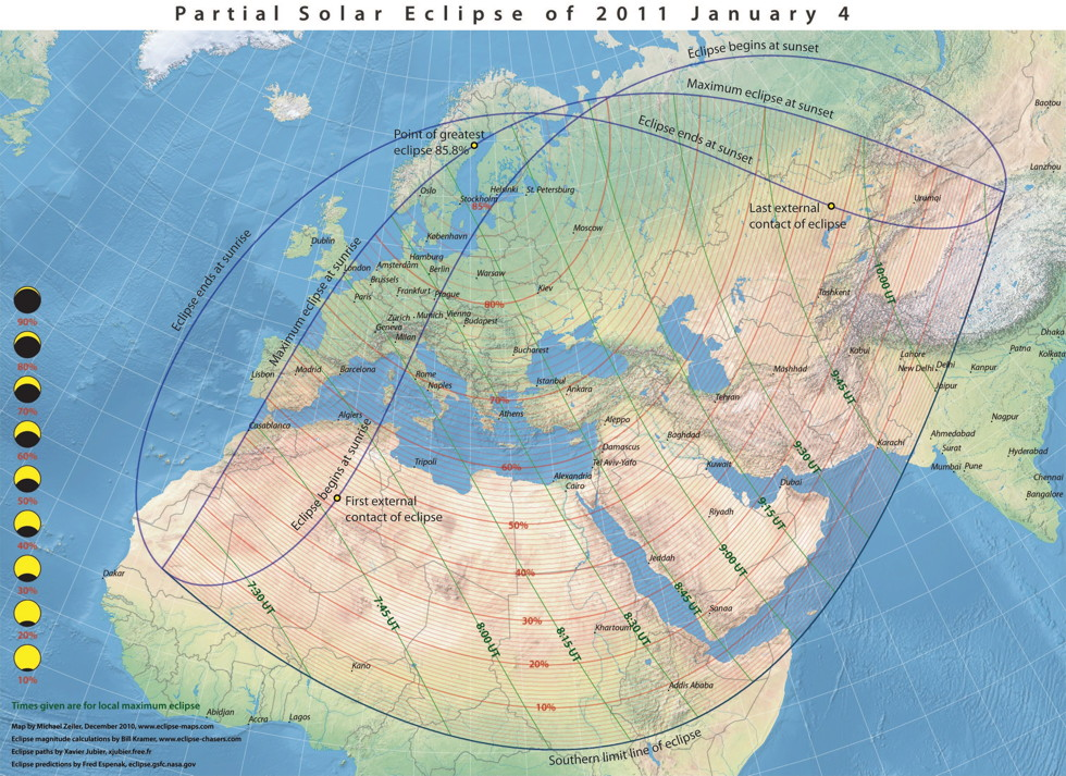 PSE 2001 January 4 Stereographic Projection Map