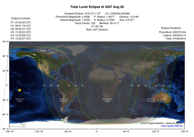 Lunar Eclipse Map 2007