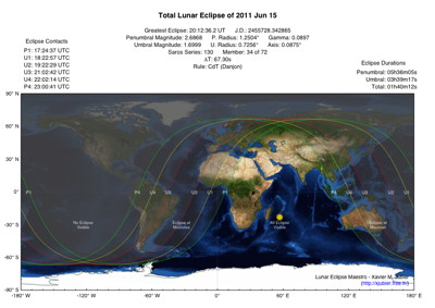 Lunar Eclipse Map 2011