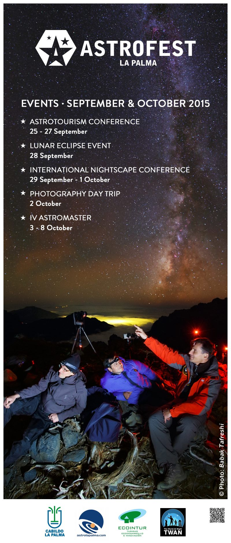 Astrofest La Palma September-October 2015