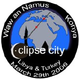 Eclipse City Waw an Namus Libya Konya Turkey