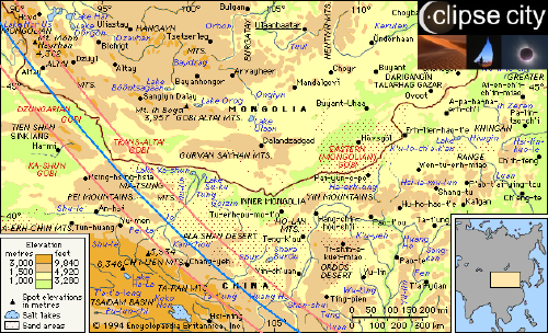 Chinese Mongolian Gobi Map