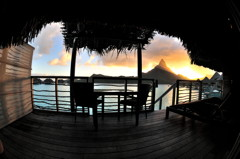 Coucher Soleil Villa 223 Intercontinental Bora Bora Thalasso Spa