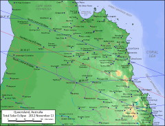 Eclipse 2012 Track Queensland Australia