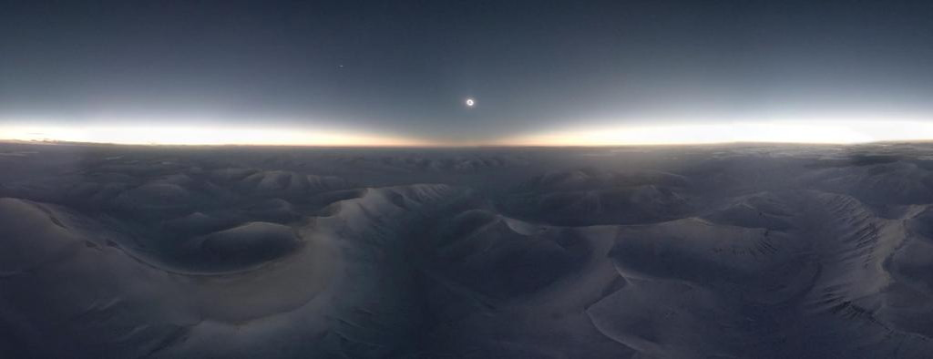 Total Solar Eclipse 2015 Svalbard Hot Air Balloon Stratospheric Norway