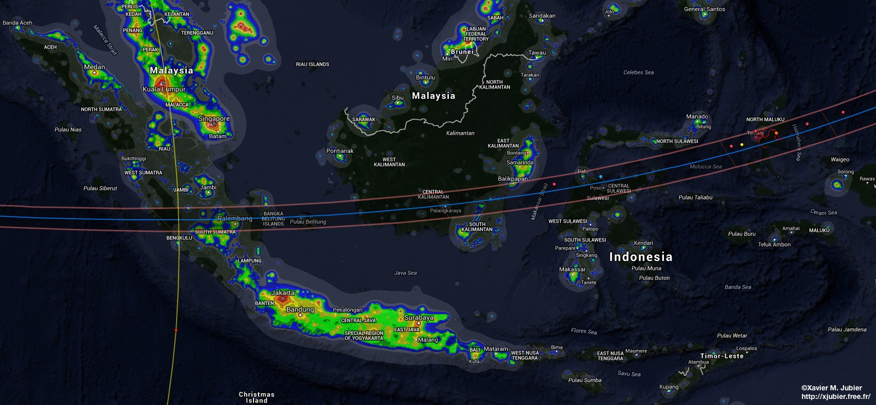 Indonesia - Micronesia - Total Solar Eclipse of 2016 March 8-9 ...