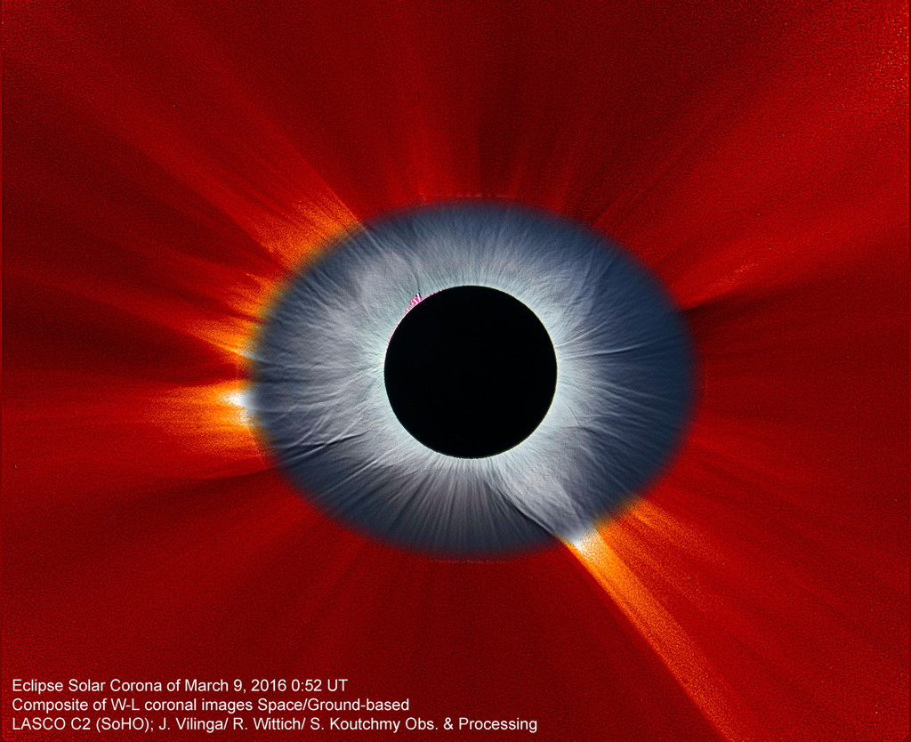 Total Solar Eclipse 2016 Composite SoHO LASCO C2 Ternate Molucca North Maluku Utara Indonesia