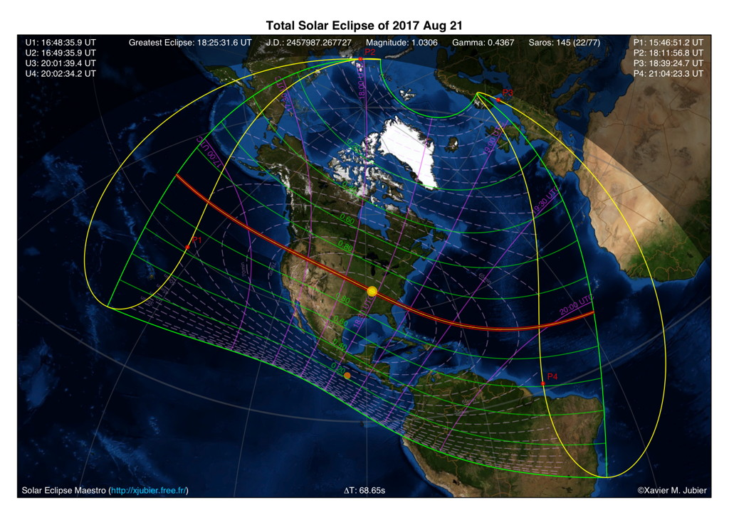 United States Of America Total Solar Eclipse Of 2017 August 21