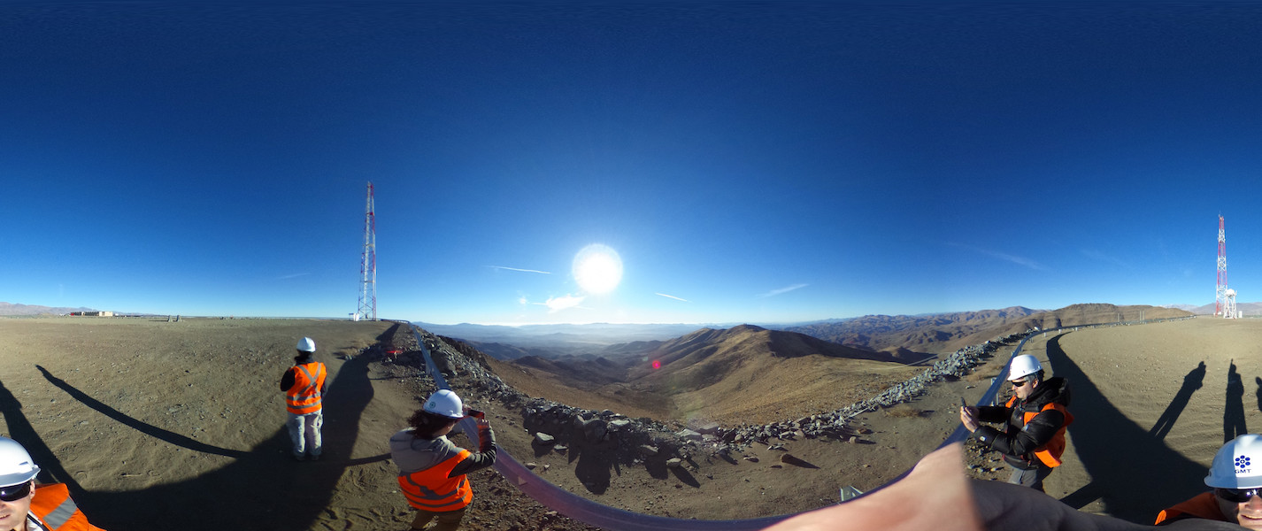360 Degree Panoramic View Giant Magellan Telescope Total Solar Eclipse 2019