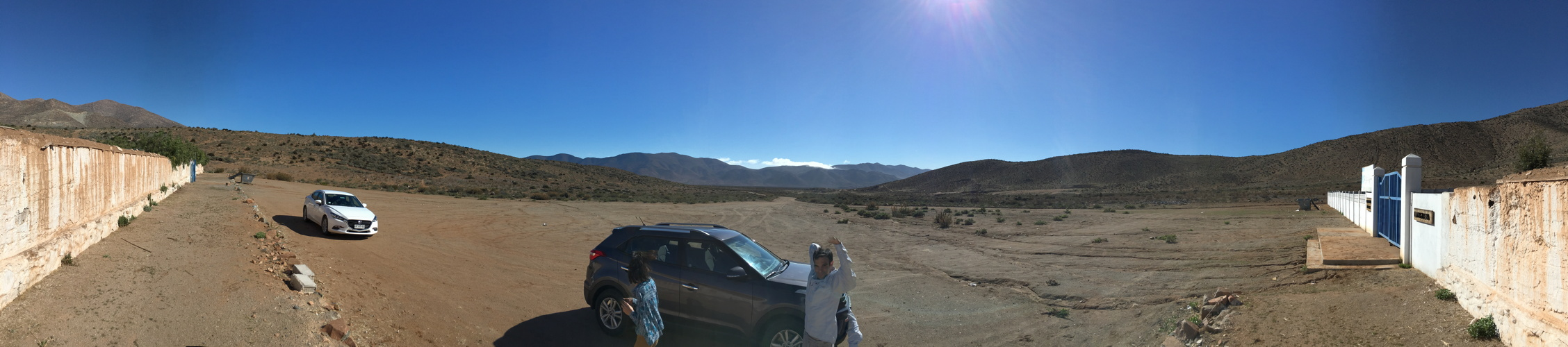 180 Degree Panoramic View La Higuera Total Solar Eclipse 2019