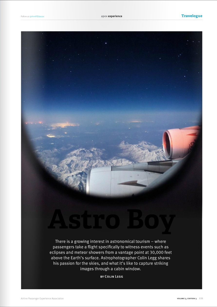 Airline Passenger Experience APEX Magazine Issue September October 2015 Astro Boy