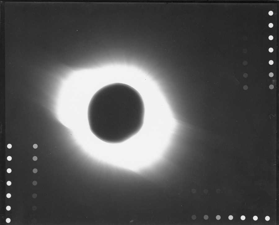 Eclipse Totale Soleil 1945 Pine River Manitoba Canada Couronne Solaire Externe