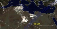 Cloud cover in Libya on March 18, 2005