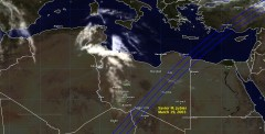 Cloud cover in Libya on March 19, 2005
