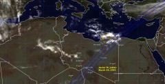 Cloud cover in Libya on March 20, 2005
