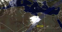 Cloud cover in Libya on March 21, 2005