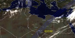 Cloud cover in Libya on March 22, 2005