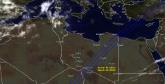 Cloud cover in Libya on March 23, 2005