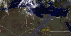Cloud cover in Libya on March 24, 2005