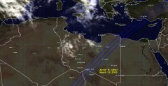 Cloud cover in Libya on March 25, 2005
