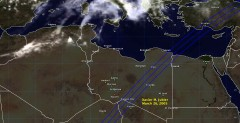 Cloud cover in Libya on March 26, 2005