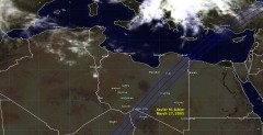 Cloud cover in Libya on March 27, 2005