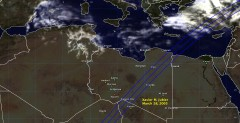 Cloud cover in Libya on March 28, 2005