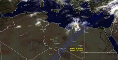 Cloud cover in Libya on March 29, 2005