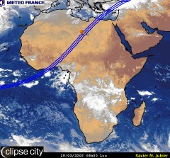 Cloud cover in Africa on March 29, 2005 at 8 AM