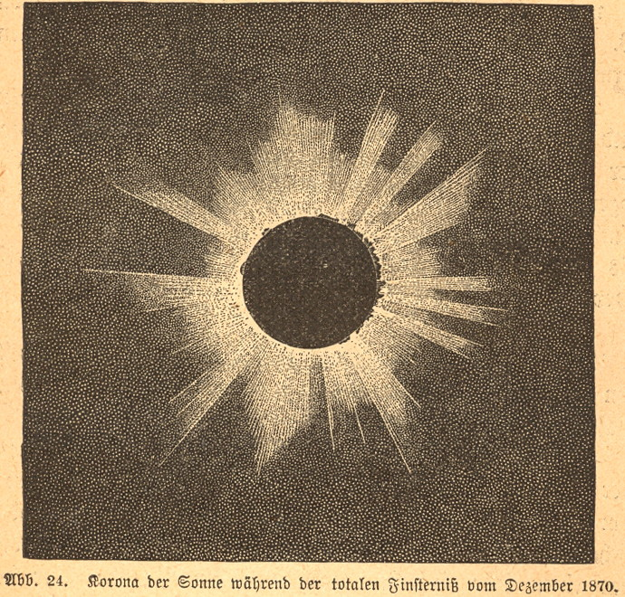 Total Solar Eclipse 1870